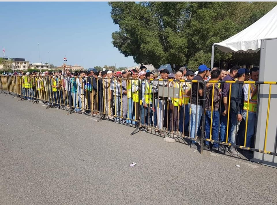 حشود المصريين فى الكويا