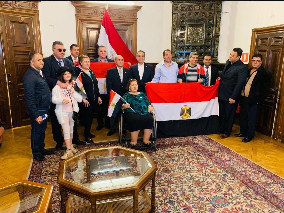 جانب من مشاركة المصريين فى السويد