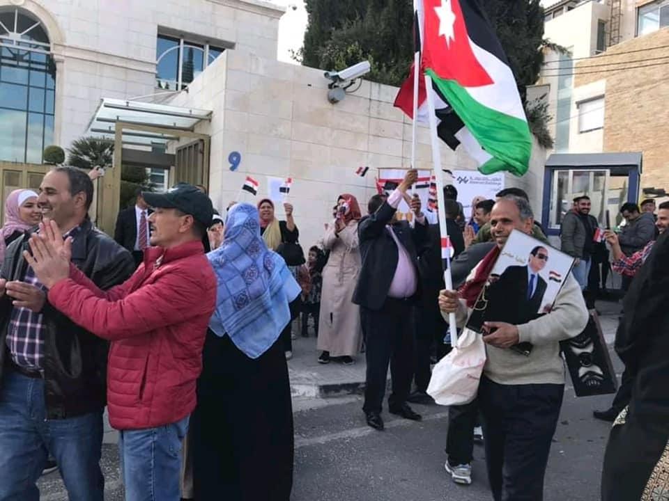 المصريون فى الأردن يحتفلون باستفتاء الدستور
