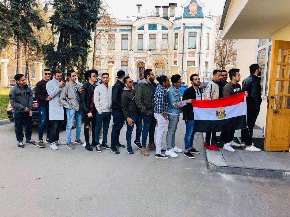 الشباب المصرى فى روسيا يشارك فى استفتاء التعديلات الدستورية