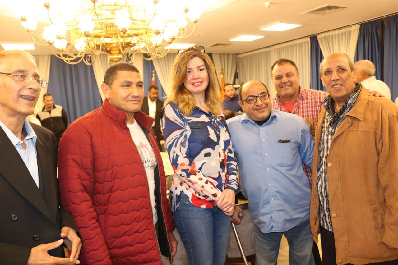 رانيا فريد شوقى مع الحضور