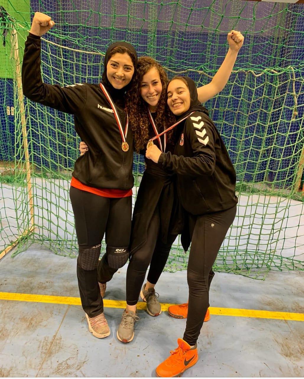 فريق الأهلى سيدات لكرة اليد (1)