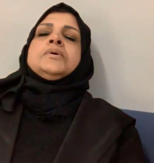 والدة سالى عبد السلام فى مطار بيروت