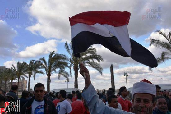 محافظ البحيرة يشارك فى مسيرة حاشدة (3)