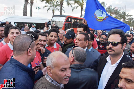 محافظ البحيرة يشارك فى مسيرة حاشدة (4)