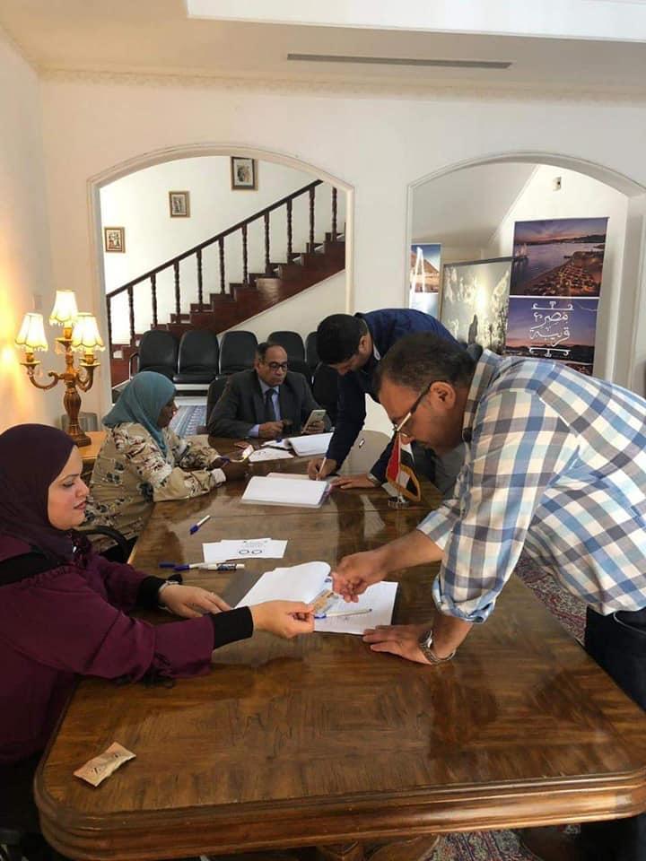 إقبال على التصويت فى البحرين قبل غلق باب التصويت للمصريين بالخارج
