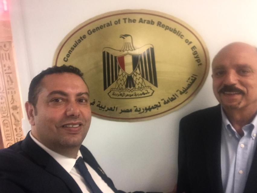 جانب من مشاركة المصريين الأرمن فى الاستفتاء على تعديل الدستور