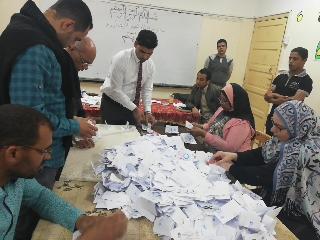 بدء أعمال الفرز في لجان الوادي الجديد بعد انتهاء موعد التصويت (7)