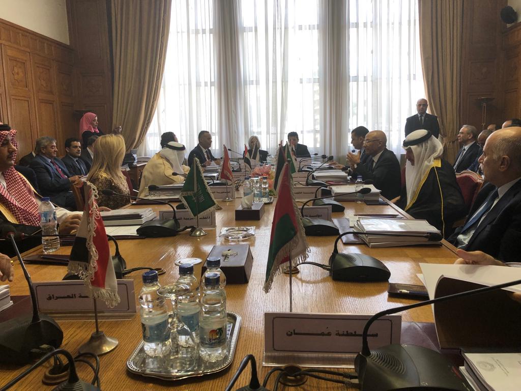 اجتماع الوزراء فى جامعة الدول العربية