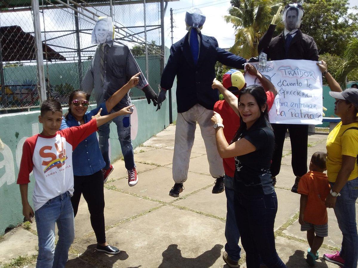 حرق الشخصيات السياسية فى فنزويلا