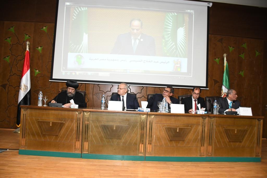 خلال افتتاح المؤتمر الدولي مصر والتنمية المستدامة في إفريقيا (4)