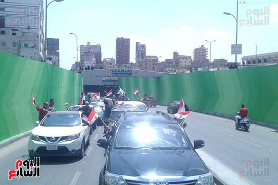 مسيرات-بالسيارات-فى-الإسماعيلية-لحث-المواطنين-على-النزول-للتصويت-على-الاستفتاء-(6)