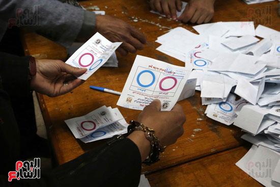 فرز اصوات الاستفتاء على التعديلات الدستورية (14)