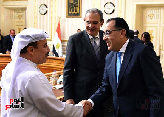 رئيس الوزراء يلتقى رؤساء البورصات العربية  (5)