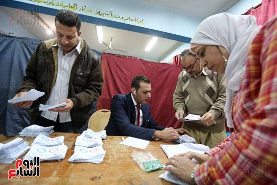فرز اصوات الاستفتاء على التعديلات الدستورية (21)