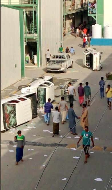 جانب من أعمال الشغب فى قطر