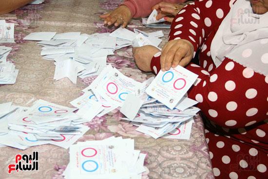 فرز اصوات الاستفتاء على التعديلات الدستورية (2)