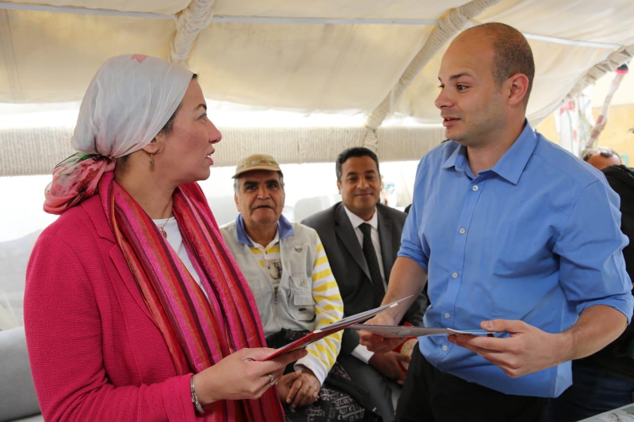 وزيرة البيئة تشهد الاحتفال باليوم العالمي للطيور المهاجرة على ضفاف النيل (1)