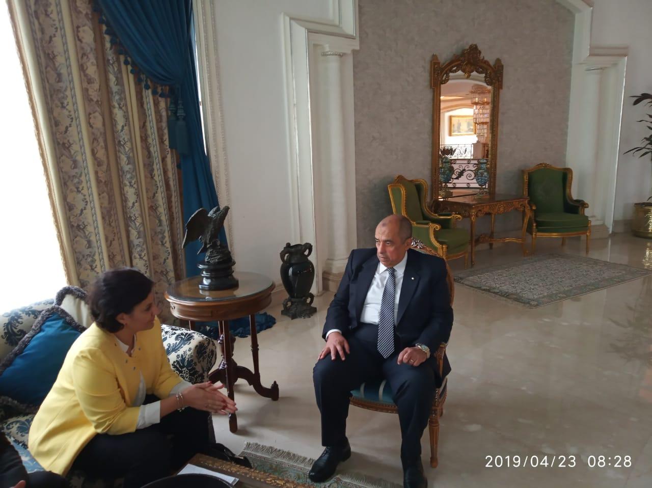 وزير الزراعة يبحث مع مدير مكتب الايفاد تكثيف التعاون  (3)