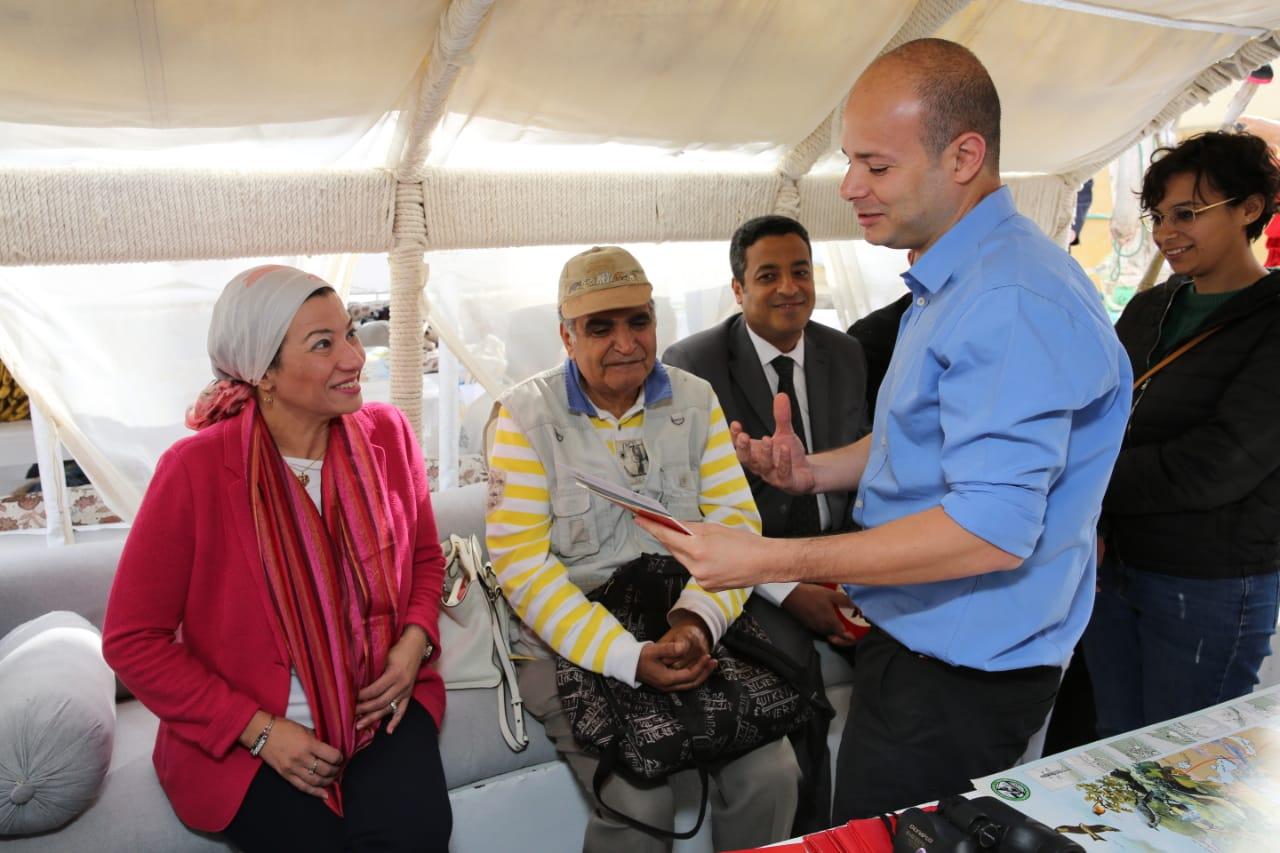 وزيرة البيئة تشهد الاحتفال باليوم العالمي للطيور المهاجرة على ضفاف النيل (3)