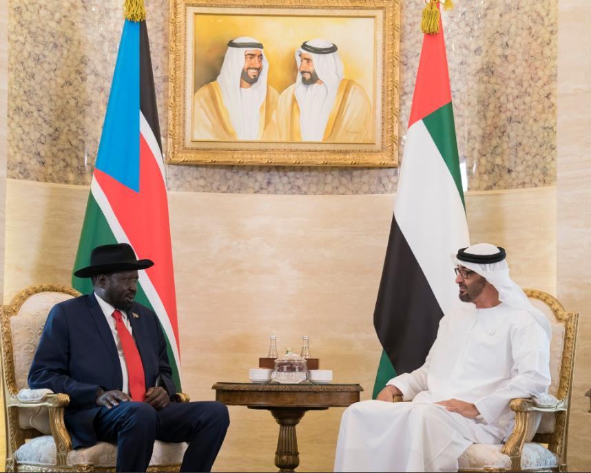 الشيخ محمد بن زايد مع رئيس جنوب السودان