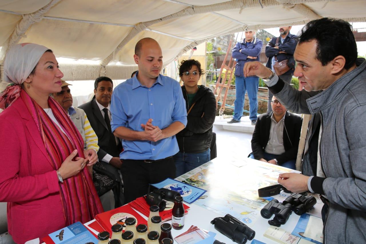 وزيرة البيئة تشهد الاحتفال باليوم العالمي للطيور المهاجرة على ضفاف النيل (2)