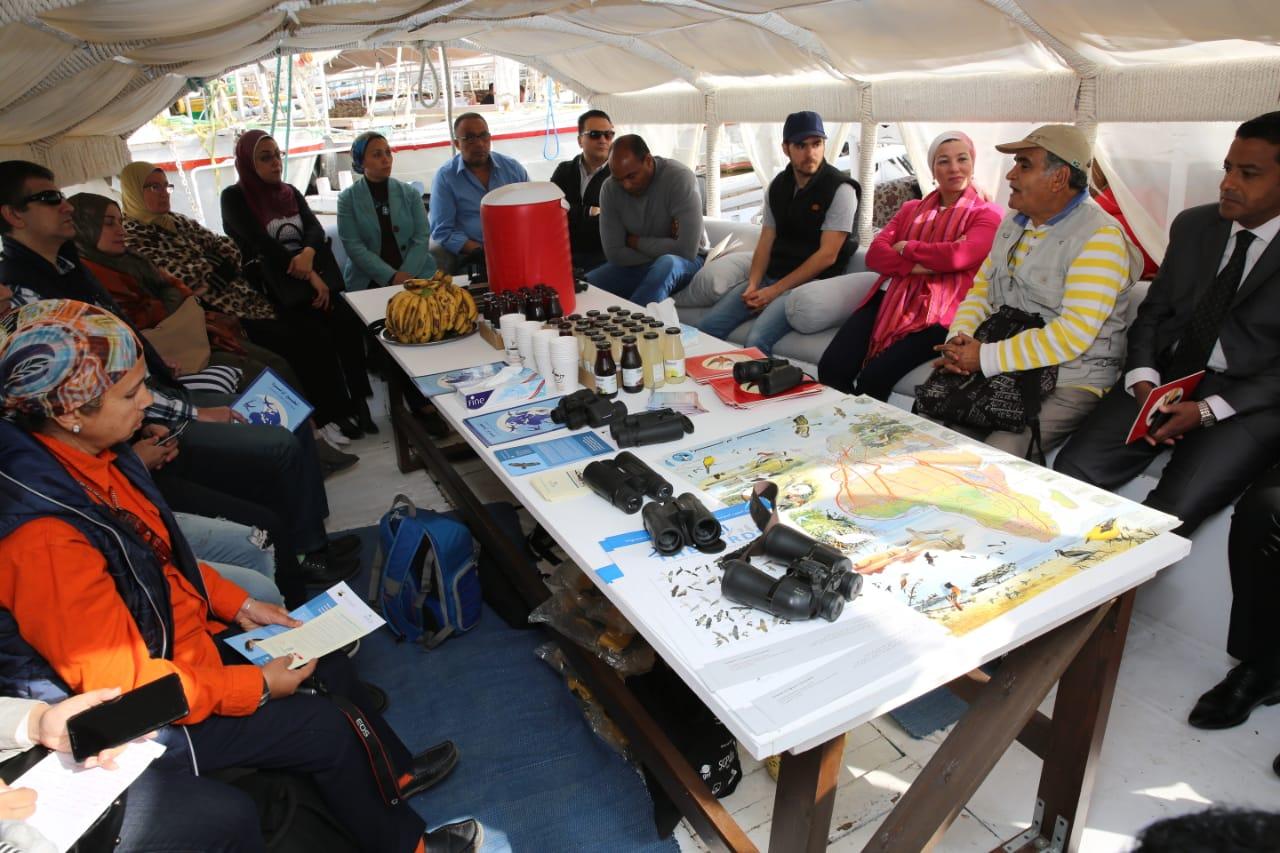 وزيرة البيئة تشهد الاحتفال باليوم العالمي للطيور المهاجرة على ضفاف النيل (4)