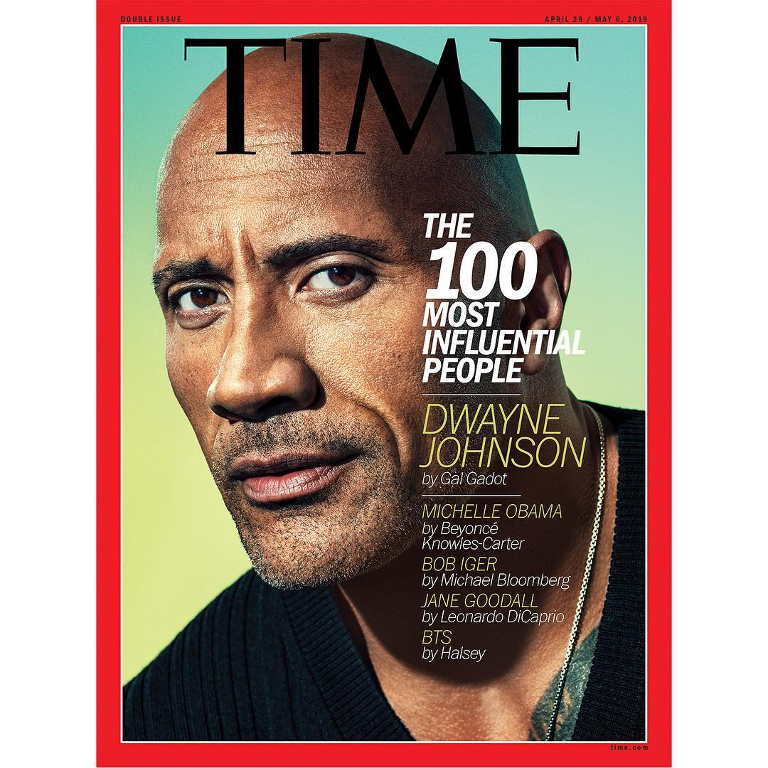 دواين جونسون على غلاف مجلة تايم TIME