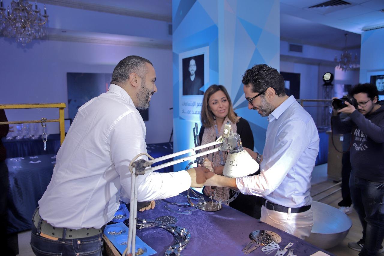 تكريم داليا البحيرى وأحمد فريد وهبة الأباصيرى من ملتقى الإبداع (2)