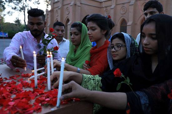 تأبين ضحايا هجمات سيرريلانكا الإرهابية