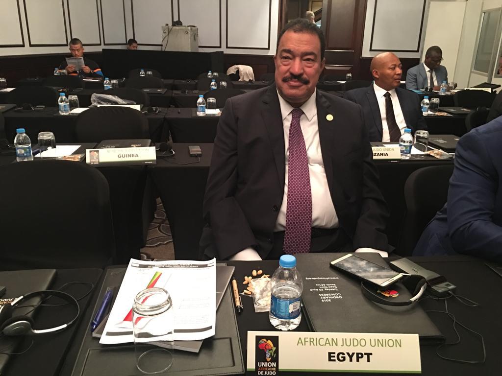 رئيس الجودو فى عمومية الاتحاد الافريقى