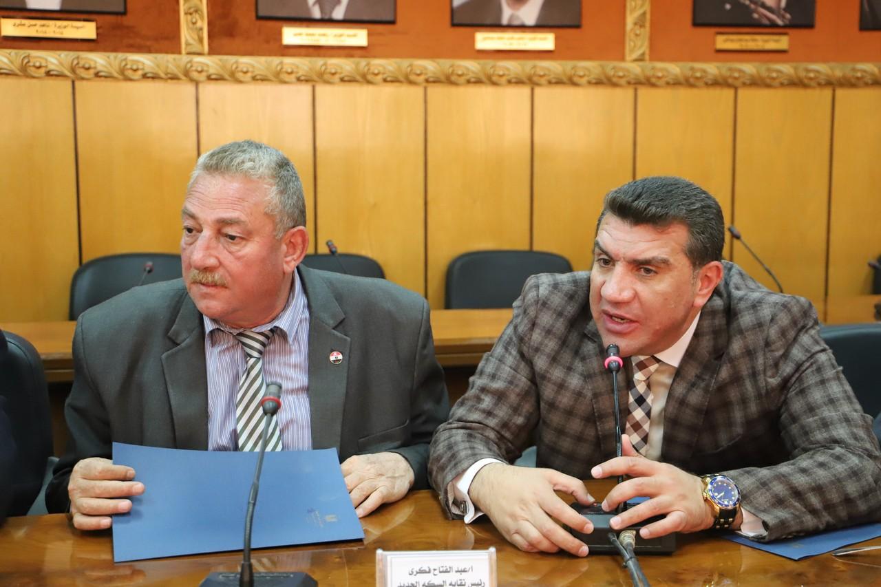 جانب من اجتماع وزير القوى العاملة بديوان عام الوزارة (10)