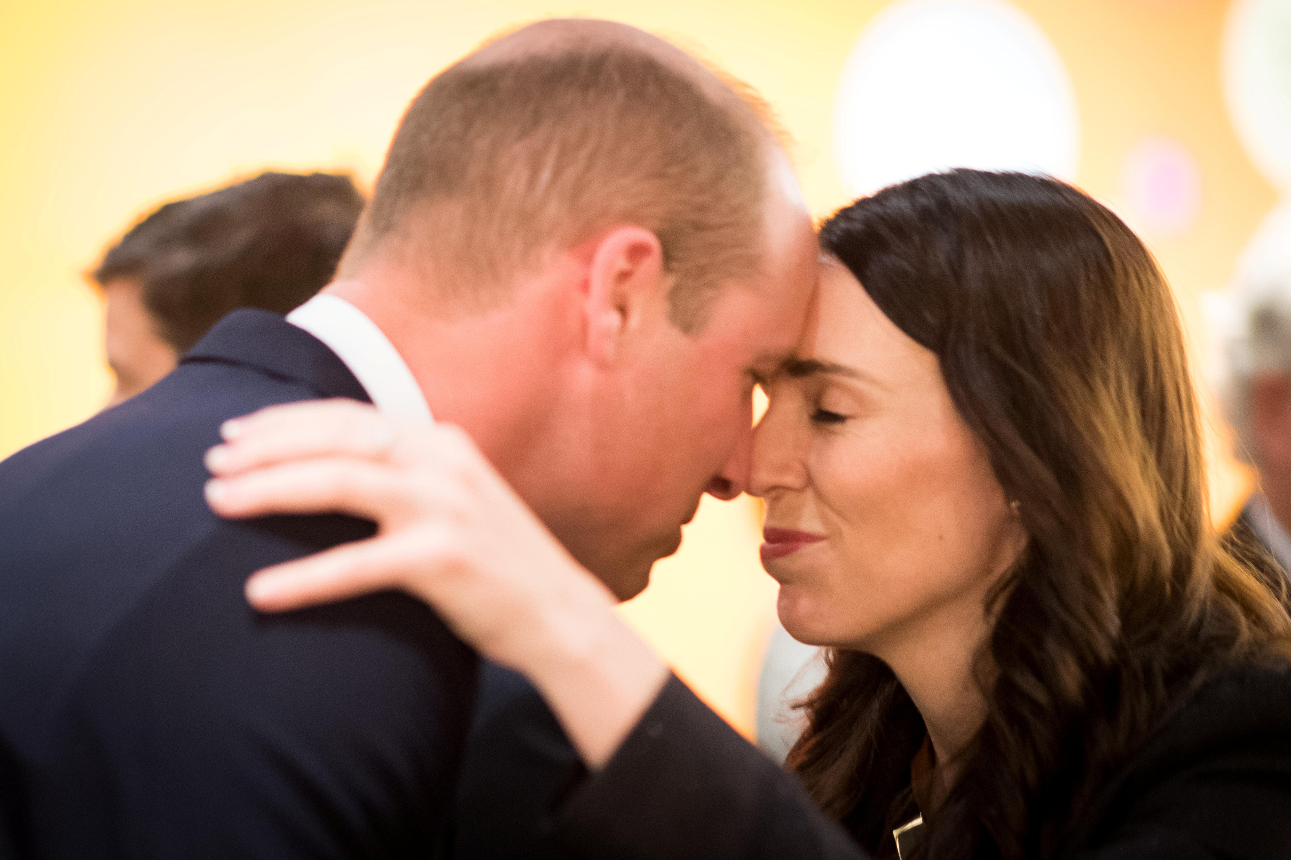 الأمير البريطانى ويليام ورئيسة وزراء نيوزيلندا