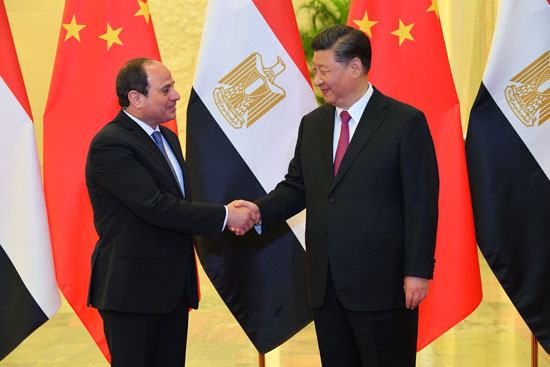 الرئيس السيسى ونظيره الصينى (2)