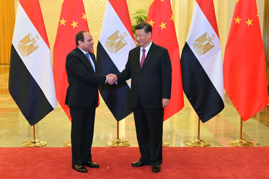 الرئيس السيسى ونظيره الصينى (1)
