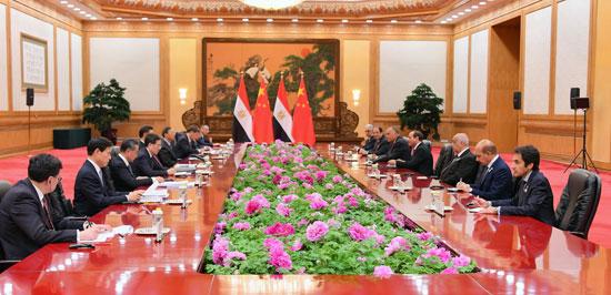 الرئيس السيسى ونظيره الصينى (4)