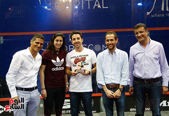 عمرو منسي ونور الشربيني يشهدان توزيع الجوائز ببطولة الجونة للرواد للأسكواش (5)