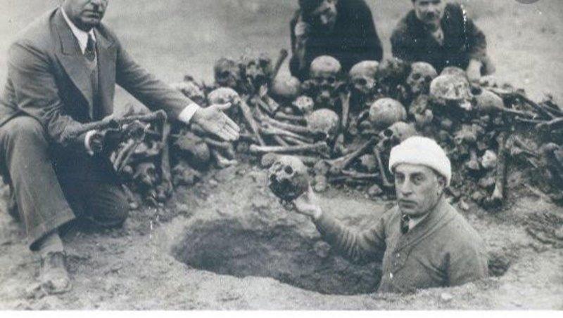 رفات ضحايا الارمن الذين قتلوا على يد الأتراك
