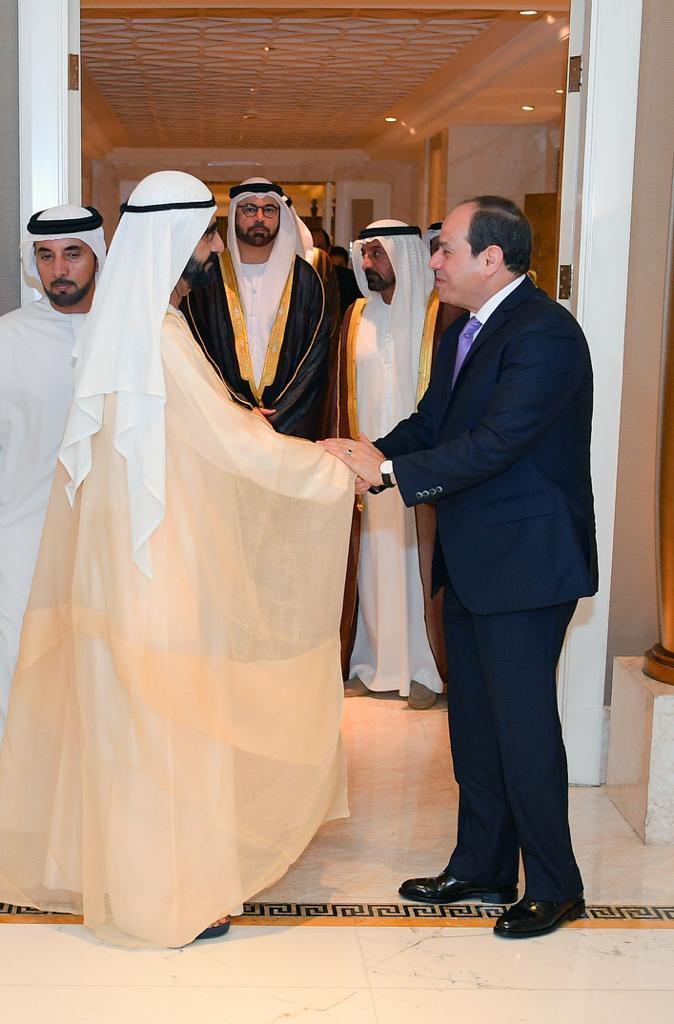 الرئيس السيسى يستقبل فى مقر إقامته ببكين الشيخ محمد بن راشد (1)