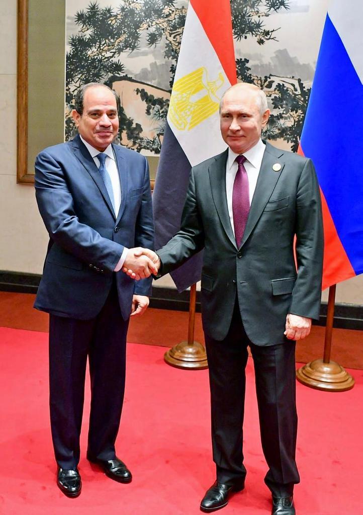 الرئيس الروسي فلاديمير بوتين  و الرئيس عبد الفتاح السيسى (3)