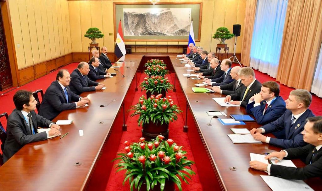 الرئيس الروسي فلاديمير بوتين  و الرئيس عبد الفتاح السيسى (2)