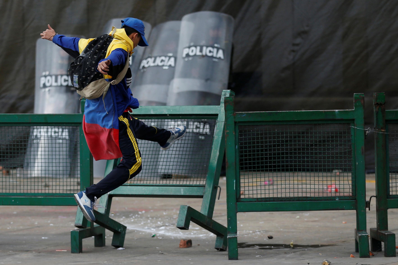 جانب من الاحتجاجات والعنف فى كولومبيا (4)