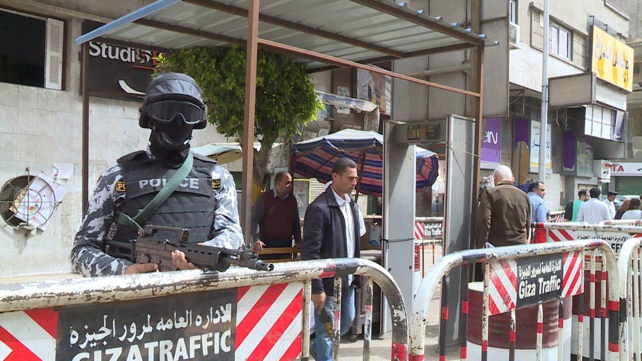 الانتشار الشرطي بالشارع