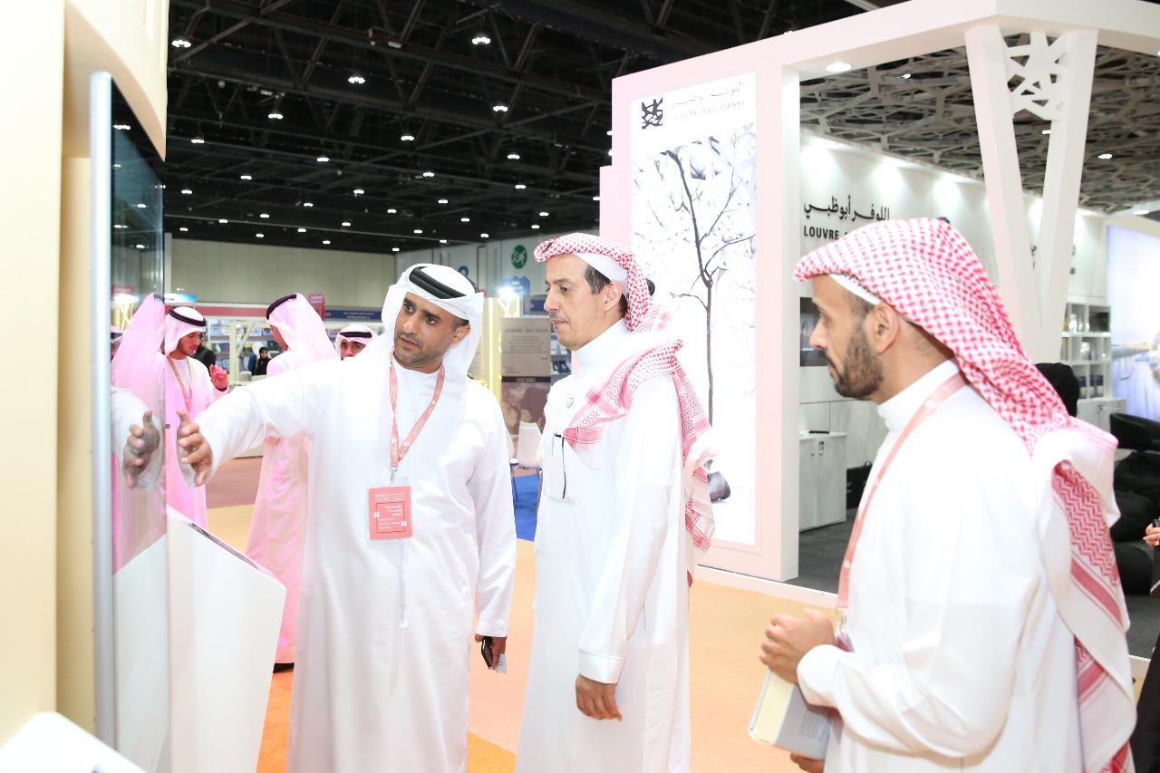 سفير السعودية بالإمارات يزور معرض أبوظبى الدولى للكتاب 2019 (1)