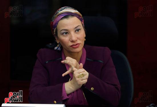الدكتورة ياسمين فؤاد وزيرة البيئة (7)