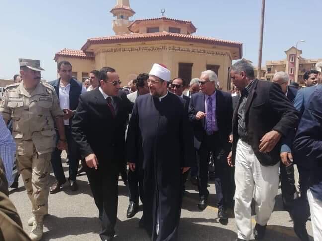 خطبة وزير الأوقاف بمسجد المدينة الشبابية بشمال سيناء (2)