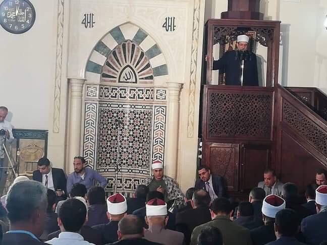 خطبة وزير الأوقاف بمسجد المدينة الشبابية بشمال سيناء (1)