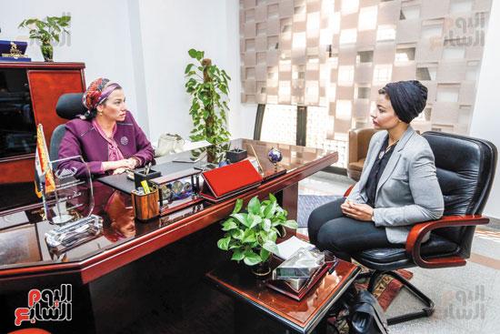 حوار اليوم السابع مع وزيرة البيئة (1)