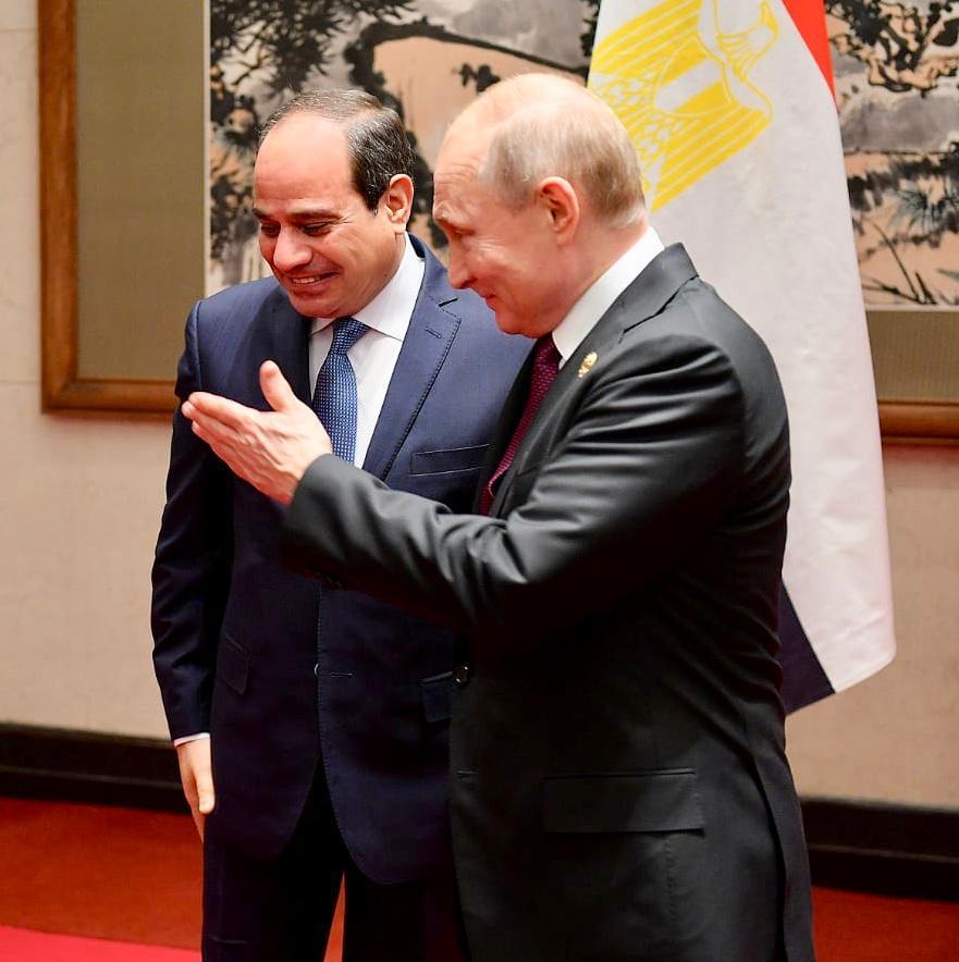الرئيس الروسي فلاديمير بوتين  و الرئيس عبد الفتاح السيسى (1)