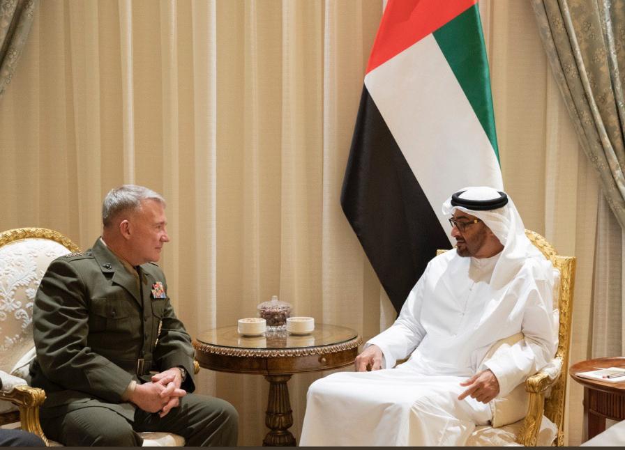 الشيخ محمد بن زايد مع قائد القيادة المركزية الأمريكية